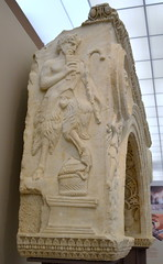 Relief of Pan. (diffendale) Tags: trip museum greek ancient exhibit greece grecia thessaloniki museo artifact archaeological griechenland grce salonica greco yunanistan thessalonica  i    ascsa  20122013 ascsa20122013tripi pleiades:findspot=491741