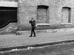 P1000573-1-2 Ciao Bella (Lawrence Holmes.) Tags: uk blackandwhite sunglasses lumix mono photographer leeds streetphotography clocked 14mm gf1 candidandstreet streettog