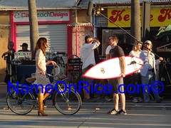 MICHELLE MONAGHAN CHRIS EVANS VENICE BEACH CALIFORNIA NOVEMBER 6, 2012 031 (NameOnRice.com) Tags: life california chris venice usa beach america evans los angeles many thing michelle vote filming obama monaghan splintered