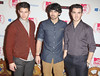 "Musicians Nick Jonas (l-r)Joe Jonas and Kevin Jonas of ""The Jones Brothers"" The MTV EMA's 2012 held at Festhalle - arrivals Frankfurt, Germany"
