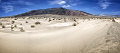 Dunes and Mountains (Benji P. Photo) Tags: road travel panorama usa mountain america landscape death sand dunes dune roadtrip panoramic valley traveling cs6