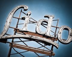 Lido Apartments (Shakes The Clown) Tags: california old blue signs vintage typography lights hotel losangeles flickr neon apartment illumination retro socal hollywood signage font scaffold 1928 smugmug 500px yuccastreet canon5dmarkii marcshurphotographycom marcshur