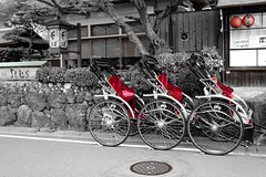 The Red (sunnywinds*) Tags: japan kyoto   sakura rickshaw interestness ricksha  explored nov172012241 nov212012192