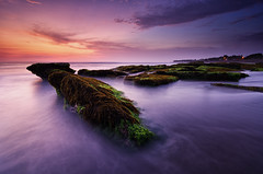 Serene Dusk [Explored] (eggysayoga) Tags: longexposure sunset sea bali seascape motion beach water indonesia nikon day lima dusk hard wave tokina 09 lee nd serene pantai graduated waterscape gnd canggu seseh 1116mm pererenan d7000 pwpartlycloudy