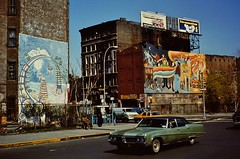 NYC April 1980 pic082 (streamer020nl) Tags: street nyc newyork car st subway moving buick mural 2000 manhattan entrance houston gone storage east 2nd warehouse ave second avenue 1980 schwartz 3000 demolished wallpainting 1000 4000 gesloopt buickelectra225 buick170
