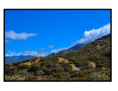 Here We Come, There They Go (MariposaCruz (Coming Back As Time Allows!)) Tags: california blue sky green nature clouds contrast nationalpark sand natural hill idyllwild shrub hillside bushes cloudcover cloudscape shrubbery sanbernardinonationalforest