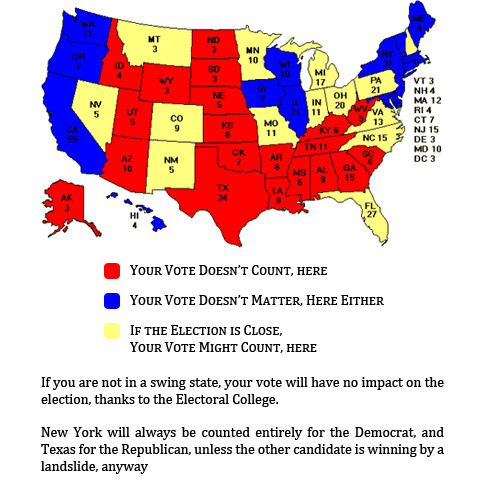 The Electoral College Means Your Vote Doesn't Count