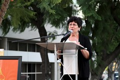 Cesar Chavez Ground Breaking Event, Ofelia Valdez-Yeager