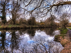 The Itchen Navigation near Winchester (neilalderney123) Tags: uk trees water reflections river britain winchester landscapeuk