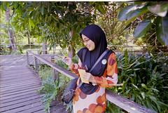 Ella The Narcissist... (mankamen et ella) Tags: woman nikon women fuji superia muslim hijab tokina 124 200 wife f80 malaysian malay 1224 dx atx ei100 dxonfx