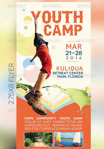 youth camp mini flyer template a photo on flickriver