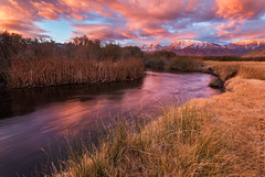 A Morning Along the Owen's River Under Autumn Light (Jim Patterson Photography) Tags: california travel mountains nature grass rural sunrise river landscape outdoors photography sierranevada eastern bishop mounttom owensriver
