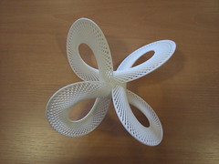 Quadrifolium (fdecomite) Tags: sculpture 3d geometry printing math blender povray shapeways quadrifolium