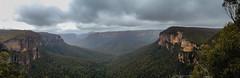 Govetts Leap (mezuni) Tags: panorama fog view australia bluemountains lookout newsouthwales govettsleap