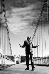 Christophe Godin (Gingertail) Tags: bridge autumn sky france metal comics french outdoors europe guitar perspective jazz september hero christophe clinic godin brutal virtuoso kartoon pontdelacaille