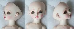commission makeup (heliantas) Tags: beige doll body handmade wig mohair bjd humpty dumpty mayfair dyed blushing aleah faceup stuling
