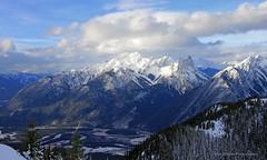 Sanson's peak view (Una S) Tags: park winter mountain snow canada clouds rockies view snowy rocky national alberta valley banff sulphur