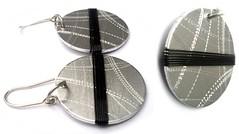 Angeles Flor Ona earrings in black (2) (Ans Designs) Tags: textilejewellery angelesflor aluminiumjewellery ansdesigns