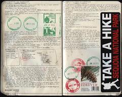 111-112 (The Hike Guy) Tags: moleskine watercolor journal moleskinerie sierranevadamountains notebookism kolbykirk