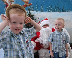 IMG_8442 (drjeeeol) Tags: santa animal brothers charlie will fav triplets toddlers 2012 refuge backtonature 50monthsold