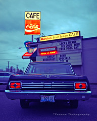 Classic Fairlane () Tags: auto urban favorite usa west classic ford car sign breakfast dinner america silver way lunch restaurant coast photo cafe cool automobile neon image south united famous picture diner coke spoon neighborhood nostalgia photograph drinks vehicle nostalgic americana local tacoma cocacola states 500 roadside cocktails greasy fairlane 1965 marcias worldcars