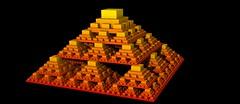 Menger Pyramid (nmmmnu) Tags: 3d pyramid fractal menger sierpinski sierpinskicarpet