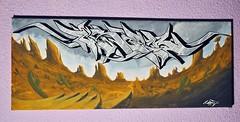 The wild west (on canvas) (MR. BURNHUMANZ) Tags: espaa classic graffiti spain huelva cream andalucia crew graff wildstyle abdt abasedetaker