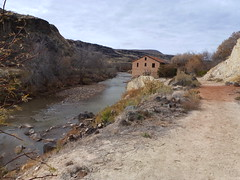 The Virgin River (QsySue) Tags: abandoned digital river lumix utah hiking hike panasonic trail pointandshoot digitalcamera virginriver powergenerator laverkin digitalpointandshoot panasoniclumixdmczs8