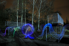 Orbs at the slate park (JRT ) Tags: longexposure trees wallpaper sky lightpainting cold night lights nikon ramp steel tripod orb led skatepark spinning warwick warwickshire nutters doglead nuttyboys warwickskatepark d300s nightnutters lenserv24 johnwarwood thenightnutters