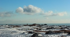 A Kinder Winters Day (Derbyshire Harrier) Tags: winter snow derbyshire kinder cropped 2012 edale moorland gritstone