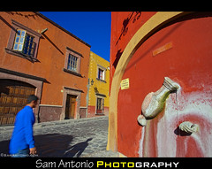 Dreaming in Color in the City of San Miguel de Allende, Mexico (Sam Antonio Photography) Tags: street old blue red people sunlight house man color history latinamerica yellow horizontal wall architecture mexico outdoors photography town colorful day dusk vibrant streetphotography bluesky illuminated worldheritagesite cobblestone slowshutter sanmigueldeallende northamerica guanajuato charming sanmiguel multicolored oldtown traditionalculture stockphotography vibrantcolor manwalking travelphotography mexicovacation boldcolors traveldestinations colorimage colonialstyle buildingexterior sanmigueldeallendemexico residentialdistrict mexicotravel builtstructure canoneos5dmarkii mexicophotography fullframephotography canon5dmarkii samantonio samantoniophotography gettystockimage sanmigueldeallendecity