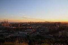 the wide view (beegee74) Tags: barcelona sunset glow catalunya badalona goldenlight viewfromthehill thewideview bdntobcn