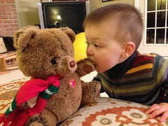 L with Kate's childhood Xmas bear