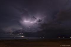 Storm Over Fanny Bay, NT (Mick Gibson) Tags: ocean storm water clouds darwin lightning northernterritory skiclub wetseason darwinskiclub