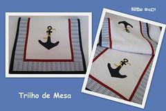 (Zion Artes por Silvana Dias) Tags: quilt navy patchwork cozinha âncora passadeira náutico patchcolagem caminhodemesa trilhodemesa patchaplique zionartes