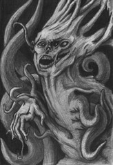 The Becoming (ashley russell 676) Tags: monster drawing thing graphite mutation becoming