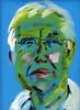 Martin ~ Estuaryman (Gila Mosaics n'stuff) Tags: portrait male art artist acrylic onblue portraitparty jkpp jkpp2012