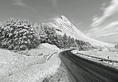 DRIVING HOME FOR CHRISTMAS (B/W) (kenny barker) Tags: bw monochrome landscape lumix scotland explore glencoe landscapeuk panasonicg1 welcomeuk kennybarker