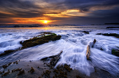 Sunset of Today (eggysayoga) Tags: longexposure blue sunset sky bali cloud seascape motion beach rock indonesia landscape golden nikon day lima cloudy magic tripod ss hard wave tokina filter le 09 lee hour nd pantai graduated waterscape gnd seseh 1116mm pererenan d7000
