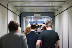 9 June, 12.39 (Ti.mo) Tags: travel people italy rome travelling airport hallway fiumicino fco 75mm iso1000 0ev  secatf18 e50mmf18oss