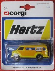 """US Van """"HERTZ"""" (streamer020nl) Tags: corgi junior mettoy gb greatbritain diecast metal model toys spielwaren jouets speelgoed"""