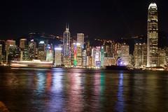 Hong Kong Skyline (Bob Bain1) Tags: travel hongkong neon hong kong nightlight kowloon wanchai conon550