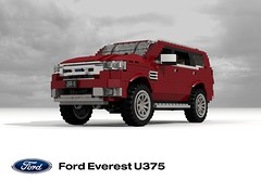 Ford Everest (U375 - 2015) (lego911) Tags: frod motor company everest u375 2015 2010s suv sport utility vehicle wagon offrad awd 4wd 4x4 auto car moc model miniland lego lego911 ldd render cad povray lugnuts challenge 105 thegreatoutdoors great outdoors cross country ford offroader