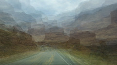 RIVER ROAD REDUX (Deborah Hughes Photography) Tags: art river riverroad utah icm intentionalcameramovment multipleexposure me impressionism