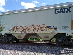 DRONE (Chicago City Limits) Tags: freight train graffiti benching freights drone dronegraffiti