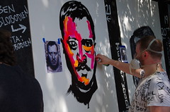 Ben Slobodien (ramseybuckeye) Tags: urban scrawl franklinton columbus ohio art artists pentax life paint canvas mural murals gallery 2016 august 27 ben slobodien benslobodien