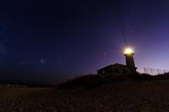 Lighthouse (K3romix) Tags: night sky stars light sea beach nacht strand leuchtturm sterne