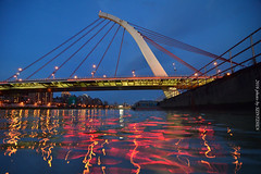 (szintzhen) Tags:          reflection light taipeicity taiwan water bridge