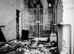 Desolate Alley (Omni-Photography) Tags: desolate film scan mamiya 645 medium format wichita ks