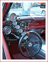 The driver of this car doesn't have Enough to look at (sjb4photos) Tags: ford 1967falcon prostreetracer gauges steeringwheel 2016cruisinonthebayou 2016bellevillecruise